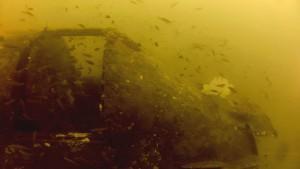 Skyraider under subic bay
