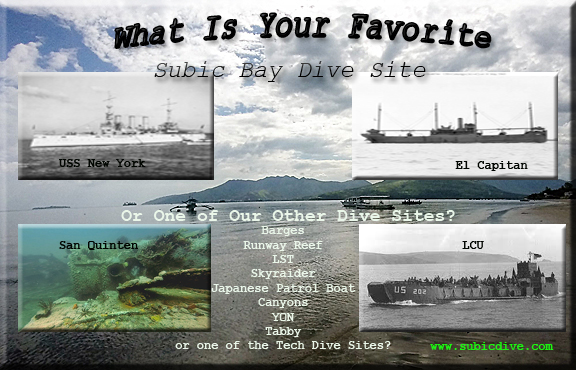 freelance writer for scuba diving topics. What is your Favorite subic bay Wreck?