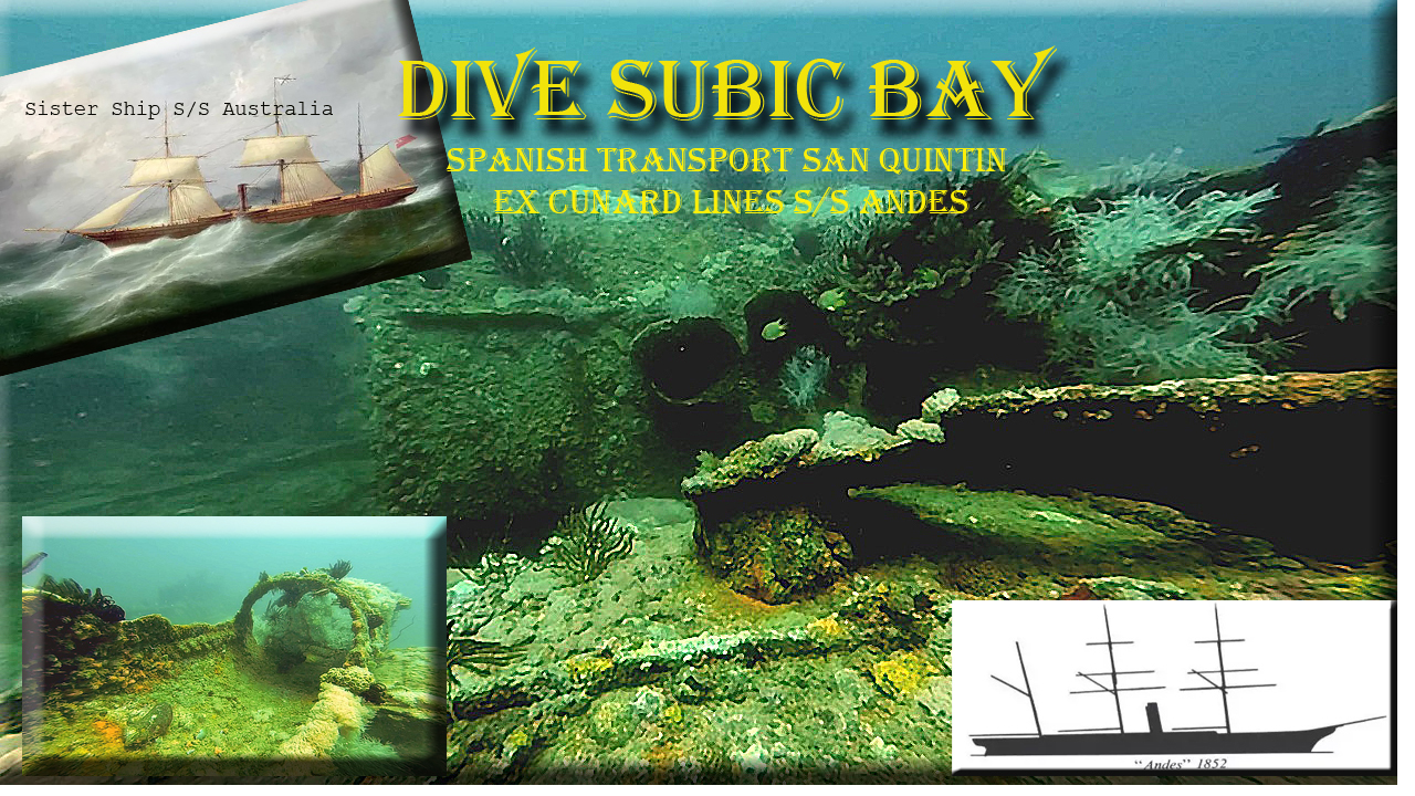 freelance writer for scuba diving topics. this is San Quintin Previously S/S Andes Cunard Lines