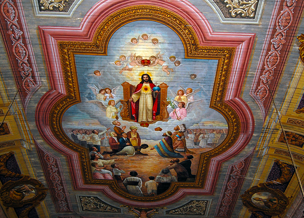 St. James Ceiling The painting in the ceiling at St. James date back as far as the late 1700's. They have been restored a number of times with major work done in 1930 and 1970.