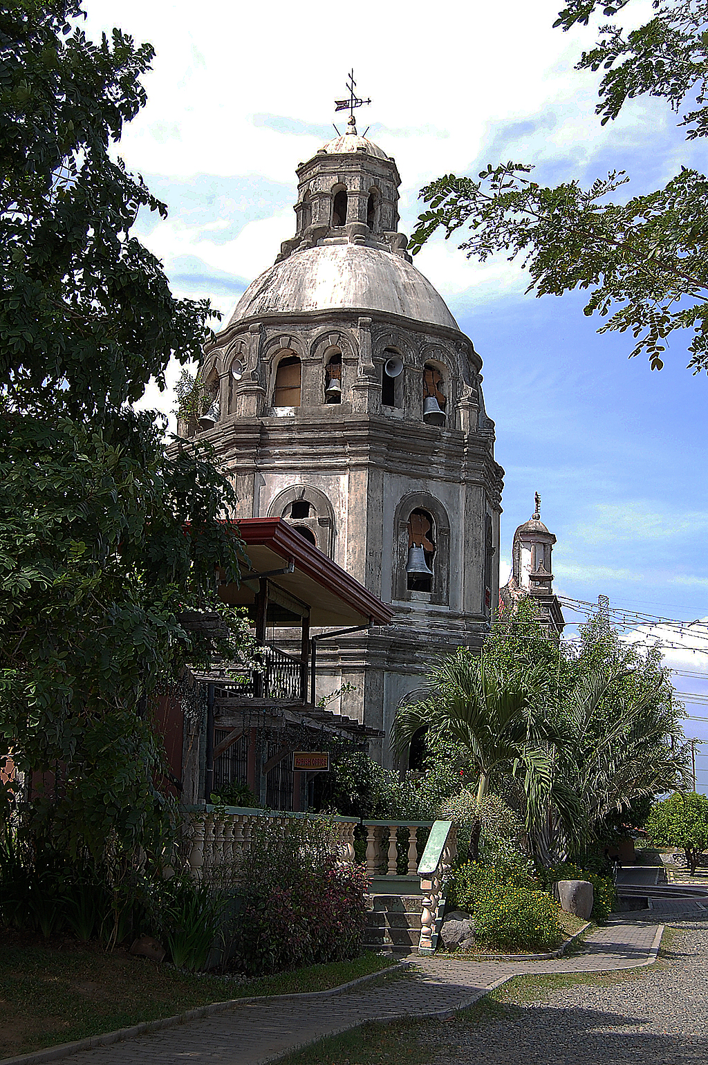 The Bell Tower of San Guillermo Parish Church The first church was built on this site in 1576 with the establishment of Pueblo of Bacolor. Present church was built in 1764.