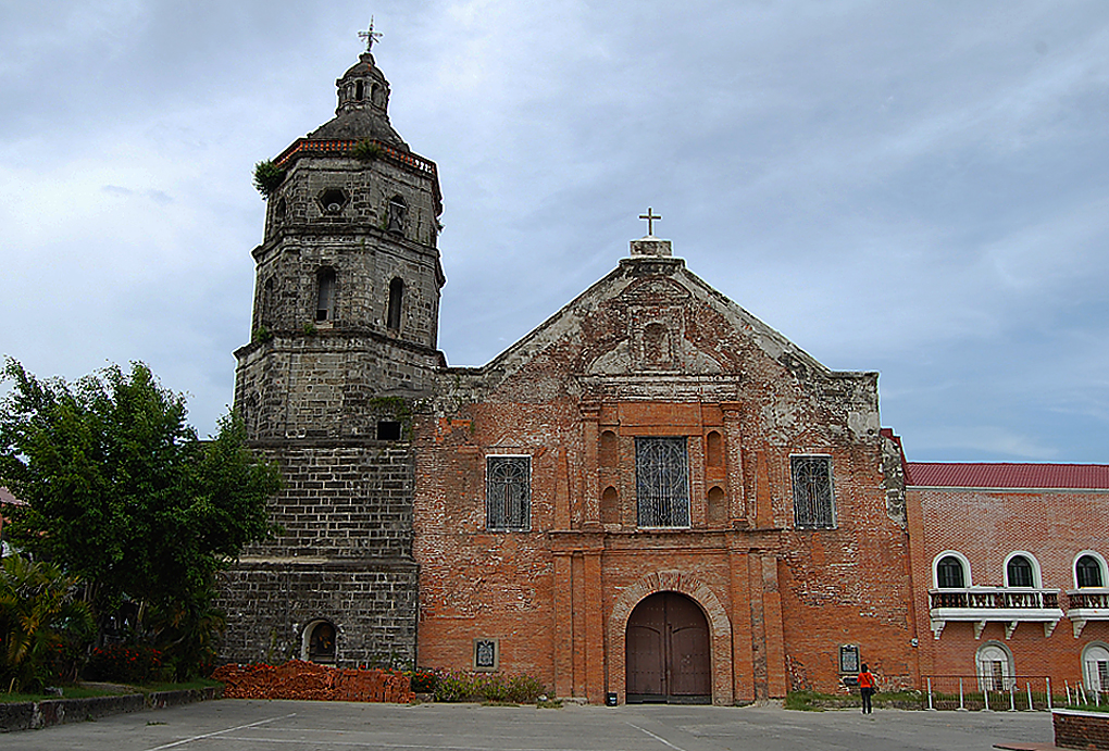 Church of Lubao Founded in 1572 and moved to current location in 1602. current building dates to 1630. building is made of brick, the mortar to hold the bricks in place was made from sand mixed with egg whites.