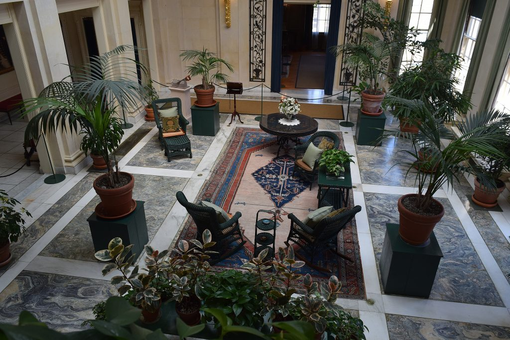 A view of the conservatory from the second floor landing.