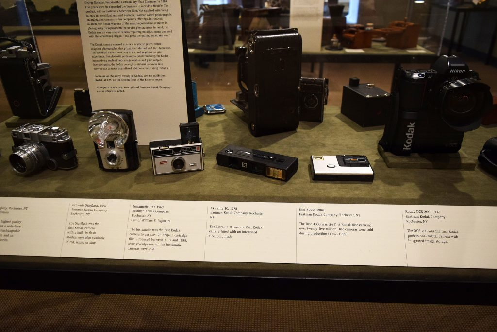 One of the displays in the museum is very depressing. Just joking, well maybe. I have owned or used the five cameras in the front. The second one is a brownie which is similar to one that was the first camera that I used. Out of this photo is another camera, the first digital camera I owned.