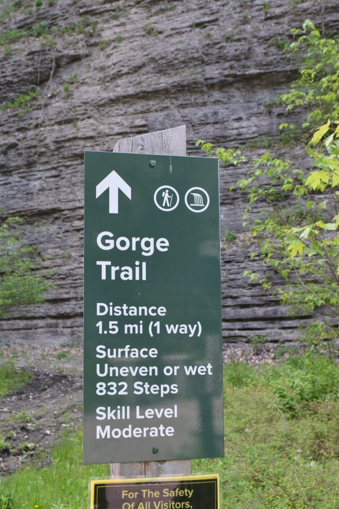 Entrance to Gorge Trail at Watkins Glen State Park