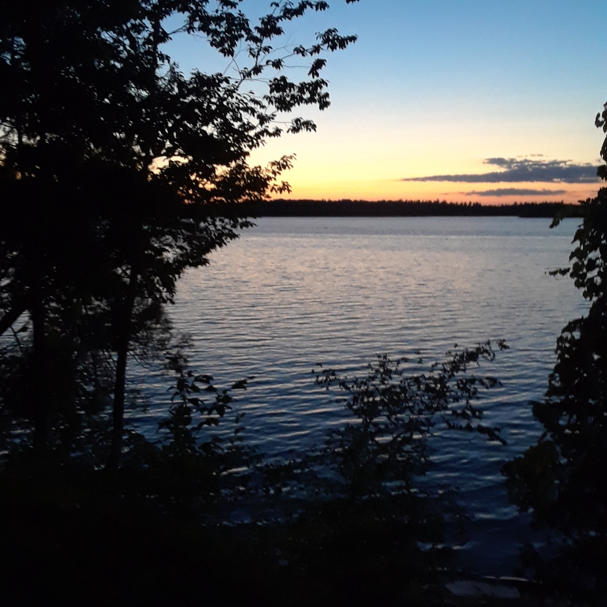 Sunset on the St Lawrence Camping