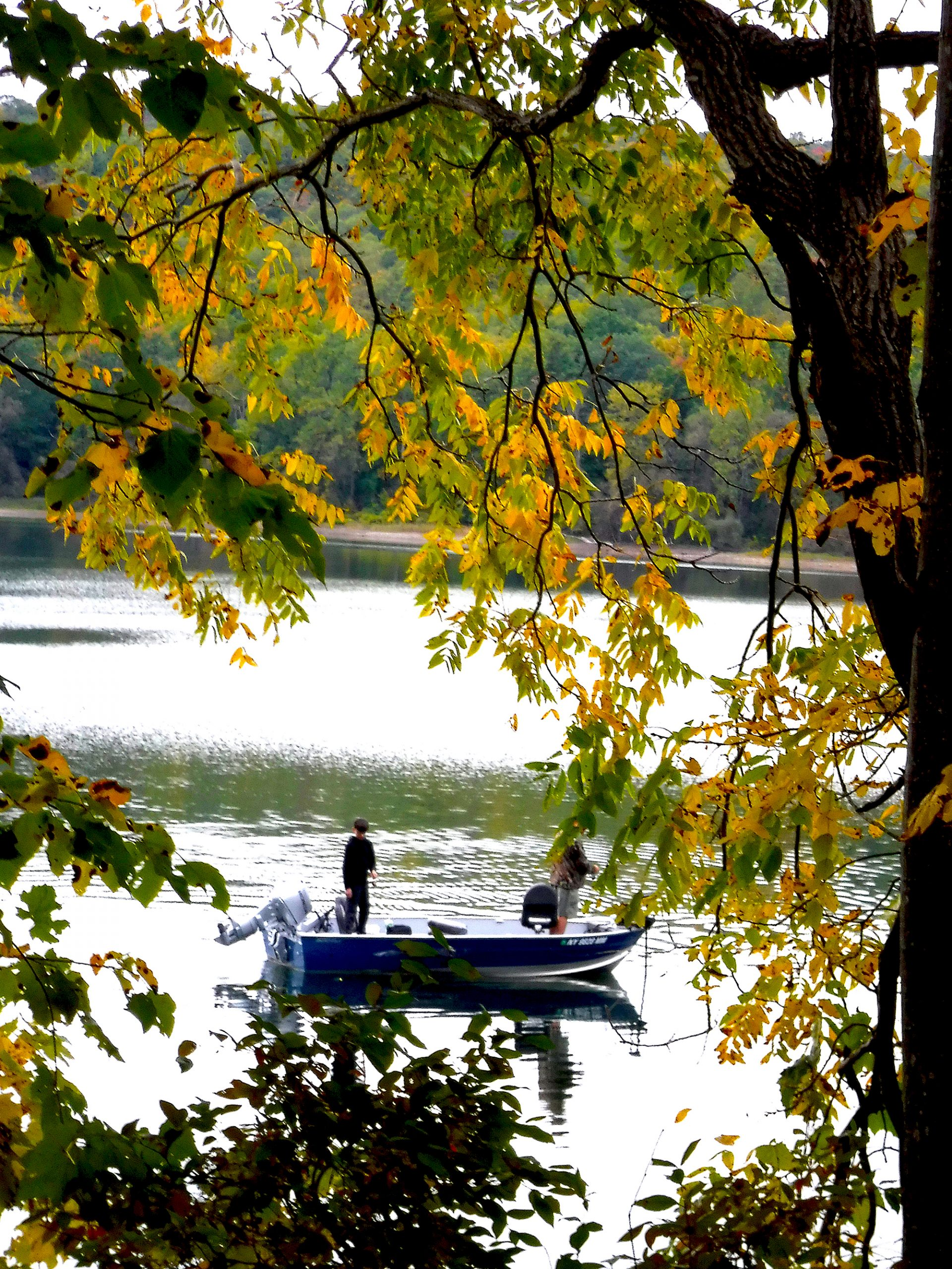 fishing on Hemlock Lake, one of the Finger Lakes