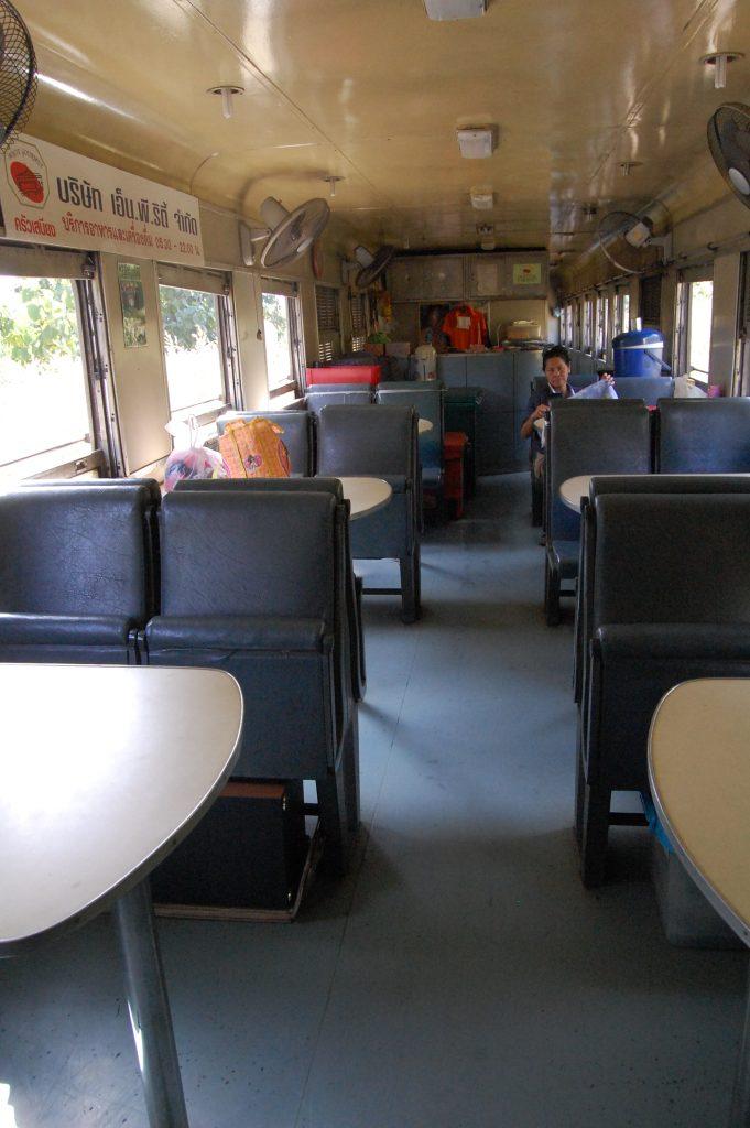 Bangkok to Chiang Mai Train Dining Car